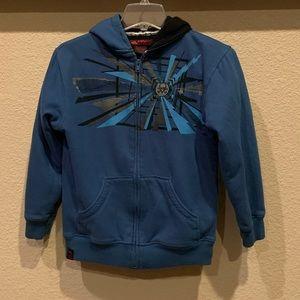Boys Tony Hawk full zip fleece lined hoodie. Med.